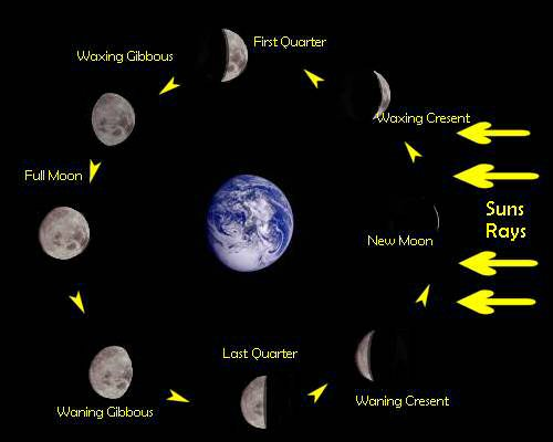 declaring the new moon answers of life : new moon diagram - findchart.co